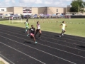 Kendall running the 200