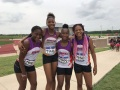 13-14 girls 4x100 relay