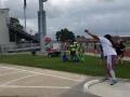 Amira throwing the shot