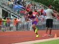 Jacardo leading off the 4x100 relay