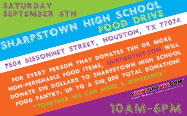 Sharpstown food drive